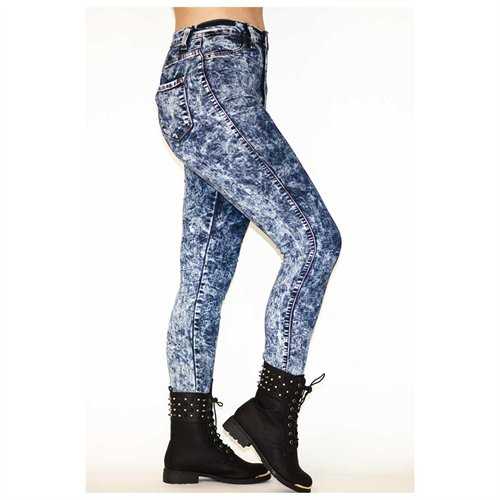 Soho Girl Perfect Fit High Waisted Acid Wash Jeans, $39   buy.com .