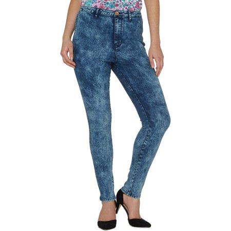 George - Women's High Waisted Acid Wash Skinny Jeans - Walmart.com .