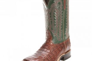 Nocona Mens Alligator Caiman Tail Square Toe Cowboy Boots .