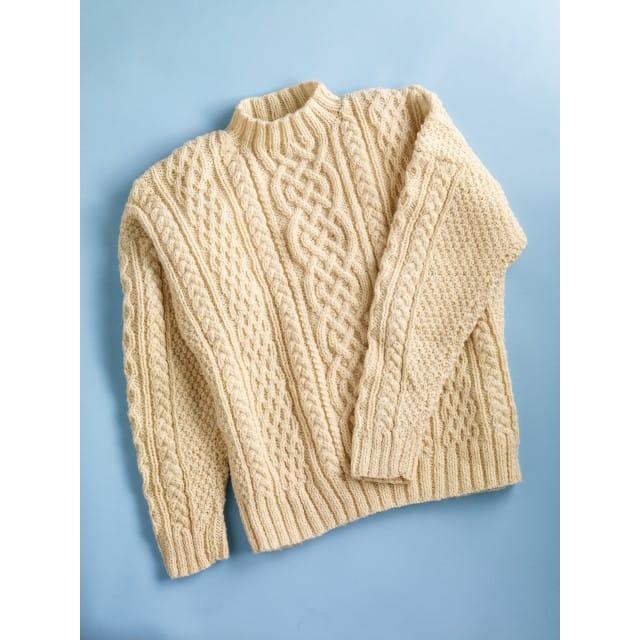 Aran Sweater (Knit) - Lion Brand Ya