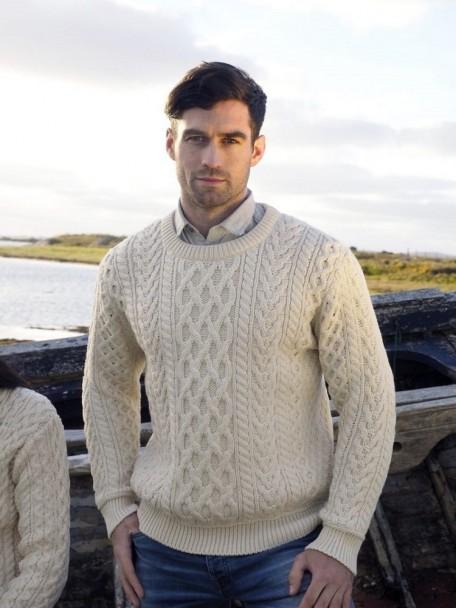 Heavyweight Irish Aran Sweater   The Sweater Shop, Irela