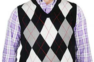 Blue Ocean Argyle Sweater Vest at Amazon Men's Clothing sto