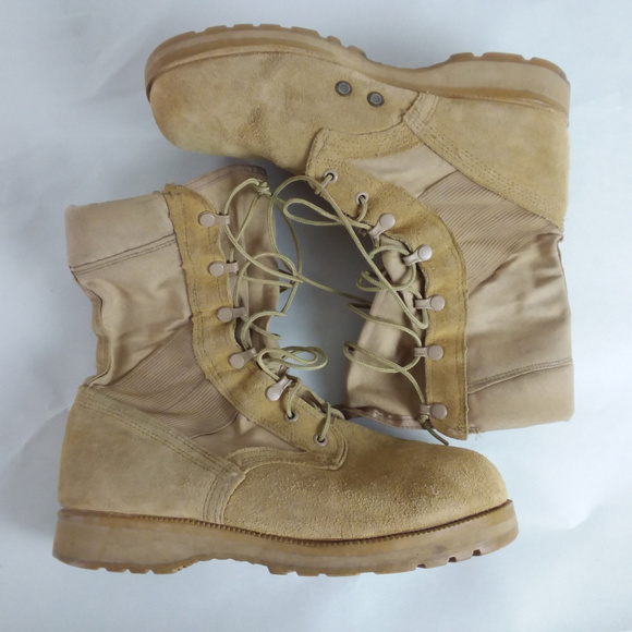 Belleville Shoes | Desert Tan Warm Weather Us Army Boots 9 Xw .