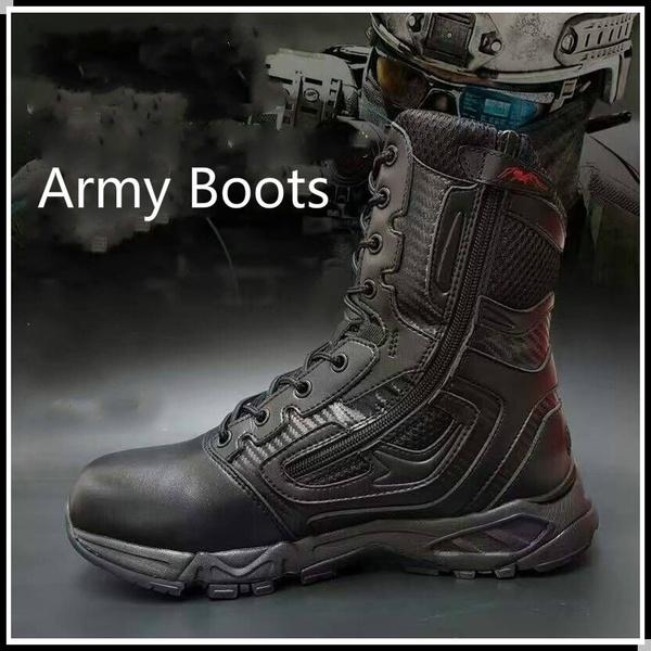 YXQXHR Army Combat Tactical Shoes Men's Boots Tactical Boots .