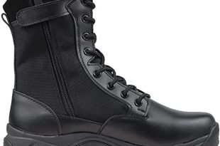 """Amazon.com: Ludey Men's 8"""" Tactical Military Combat Boots Leather ."""