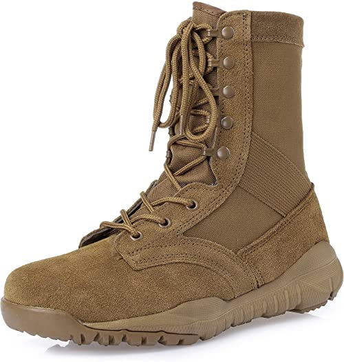 Amazon.com: KaiFeng Mens Military Boots Tactical Army Boots: Sho