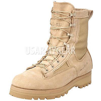 6 PR USA MILITARY GORETEX ACU DESERT TAN ICB COMBAT ARMY BOOTS .