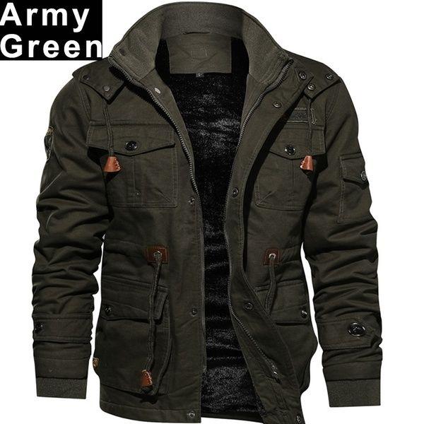 Winter Overcoat Stylish Men Fashion Jacket Outerwear Outdoors Army .