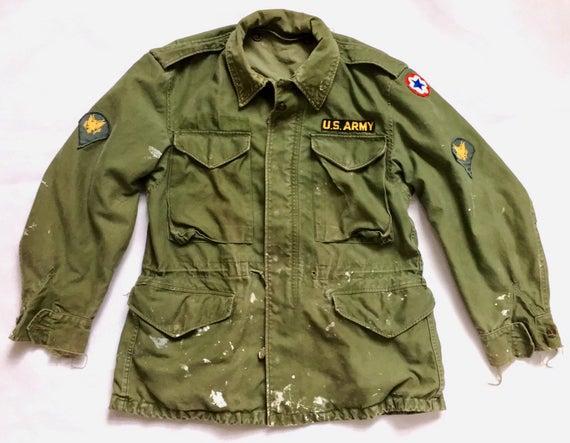 Vintage M-51 Jacket Vintage US Army Jacket Distressed Paint | Et