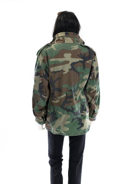 Vintage Camo Jacket WINTER Coat Army Jacket Unisex Military Issue .