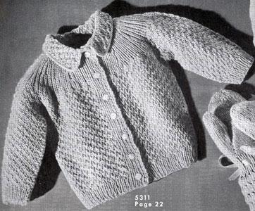 Baby Sweater Pattern #5311 | Knitting Patter
