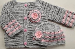 Crochet Pattern Baby Sweater and Hat Set Baby Gift baby   Et
