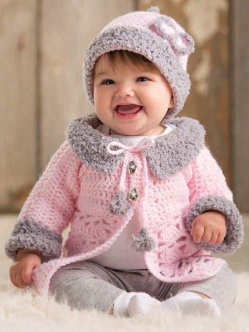Modern Baby Sweater Set - Crochet Pattern (Crochet For Children .