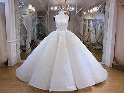 Amazon.com: 3D floral ball gown wedding dress - very light gown .