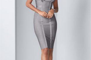 Bandage Dress in Grey   VEN