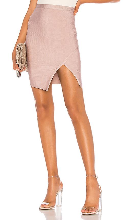 About Us Alexa Bandage Skirt in Mauve Pink | REVOL