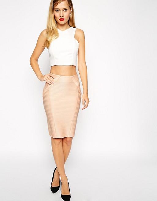 ASOS Pencil Skirt in Bandage Rib | AS