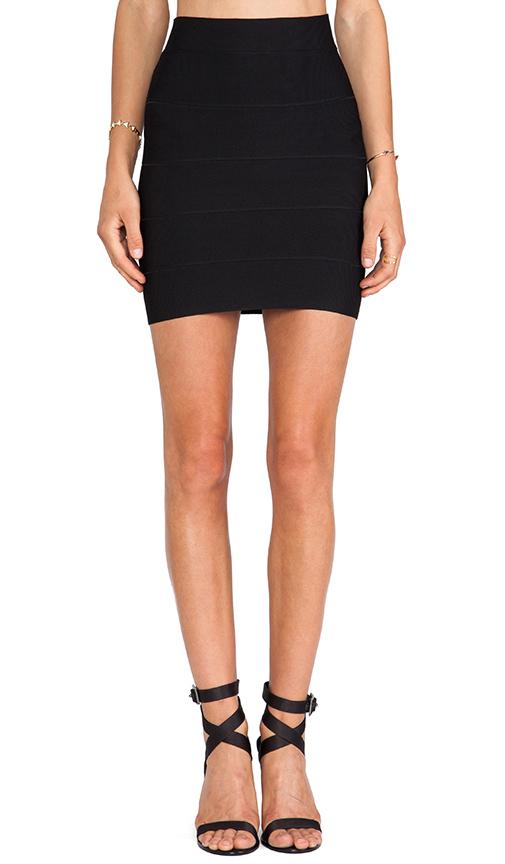 BCBGMAXAZRIA Mini Bandage Skirt in Black | REVOL