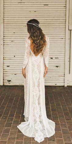 25 Best Bohemian beach wedding dress images   Wedding dresses .