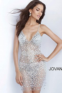 Beaded Short Dresses & Beaded Evening Gowns | Jova