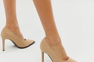 ASOS DESIGN Powerful high heeled pumps in beige   AS