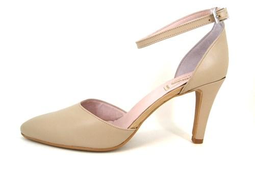 Pumps with Ankle Straps - beige | Large Size | Pumps | Stravers Sho