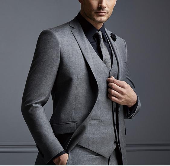 Wholesale 2017 High Quality Bespoke Suit Italy Imported Fabrics .