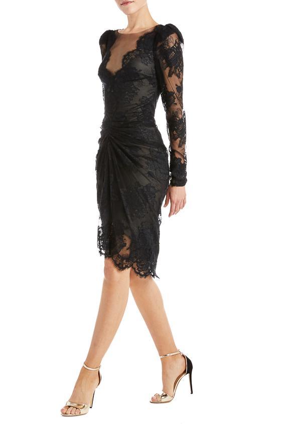 Black Lace Cocktail Dress – moniquelhuilli