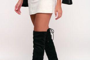Over the Knee Boots - Vegan Suede Boots - High Heel Boo