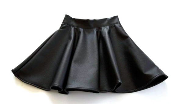 Black Cat Faux Leather Skirt – The New Cla