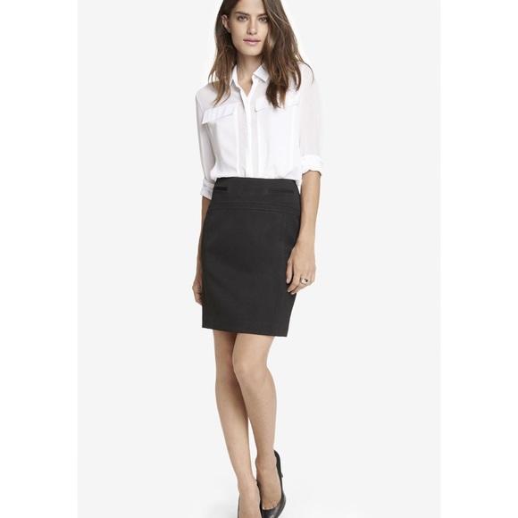 Express Skirts   Black Pencil Skirt   Poshma