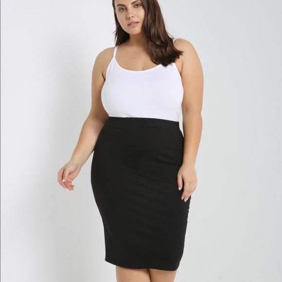 HK Boutique Skirts   Black Pencil Skirt Plus Size   Poshma