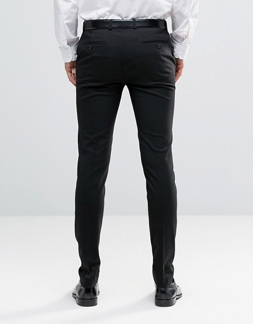 ASOS 2 Pack Super Skinny Pants In Black And Charcoal SAVE   AS