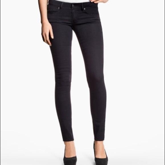 H&M Pants   Hm Black Lowwaist Skinny Jeans   Poshma