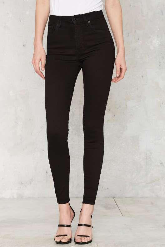 Levi's Mile High Super Skinny Jeans - Clothes   Black skinny pants .