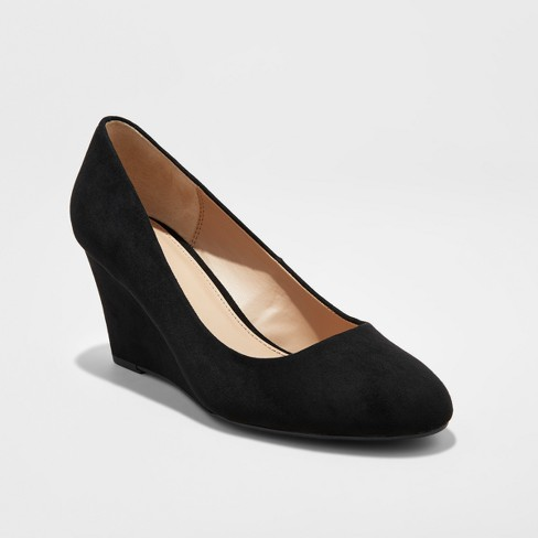 Women's Dot Round Toe Wedge Pumps - A New Day™ : Targ