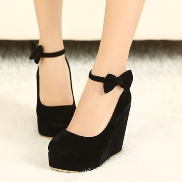 Black Wedge Sandals: Images Of Black Wedge Hee