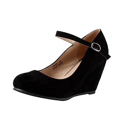 Black Wedges Shoe: Amazon.c