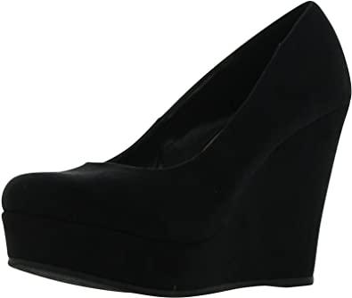 Amazon.com | Sodas Women's Beer Platform Wedge Shoes, Black, 10 .