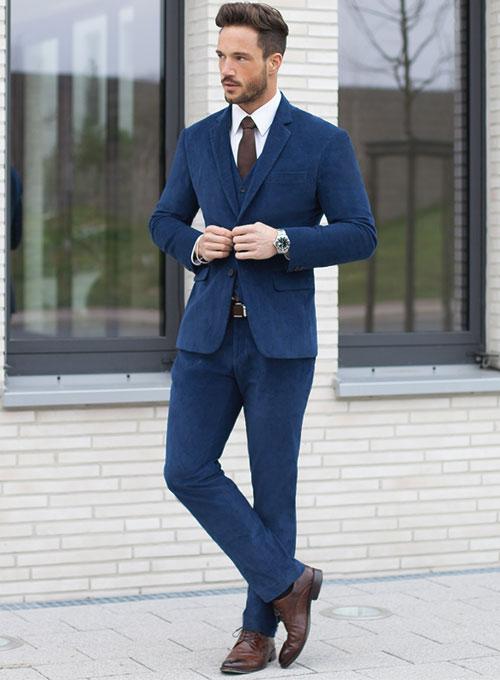 Stretch Cobalt Blue Corduroy Suit : StudioSuits: Made To Measure .