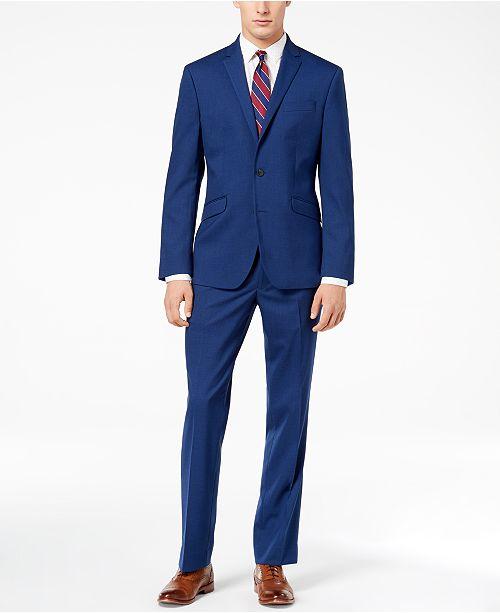 Kenneth Cole Reaction Men's Ready Flex Bright Blue Sharkskin Slim .