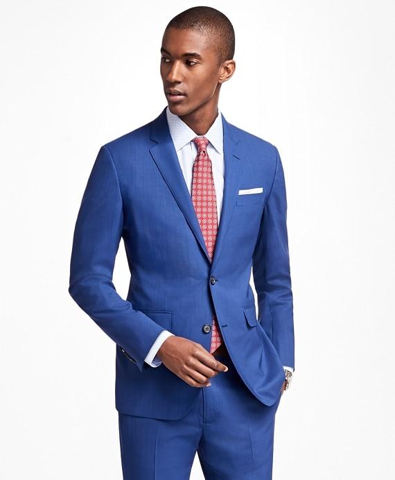 Milano Fit BrooksCool® Bright Blue Suit - Brooks Brothe