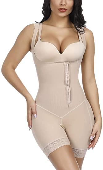 YUMDO Women's Waist Trainer Bodysuit Shapewear Tummy Control Full .