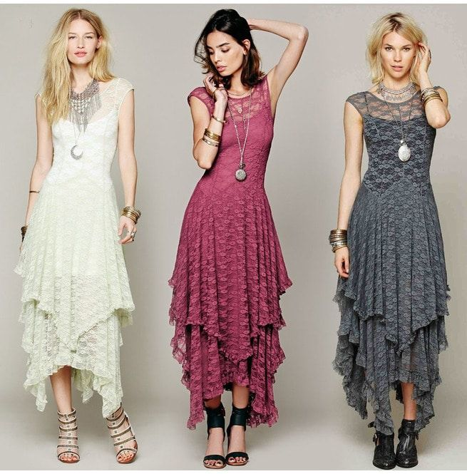 Layered Boho Lace Maxi Dresses | RebelsMark