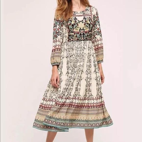 Anthropologie Dresses | Anthro Boho Midi Dress | Poshma