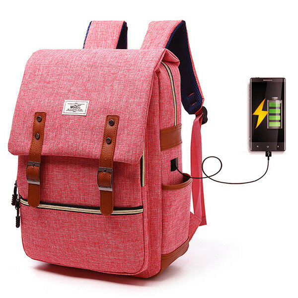 USB Men And Women Outdoor Backpack Book Bags For School Backpack .