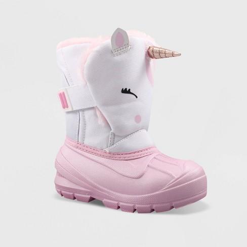 Toddler Girls' Huxley Winter Boots - Cat & Jack™ White 10 : Targ