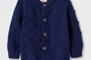 Baby Boys' Button-Up Cardigan Sweater - Cat & Jack™ Blue Newborn .