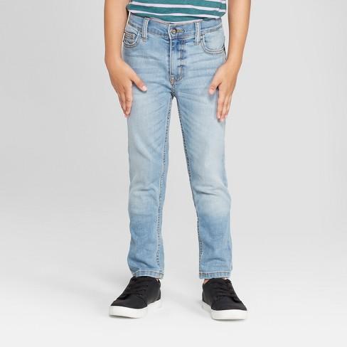 Boys' Stretch Skinny Fit Jeans - Cat & Jack™ Light Blue : Targ