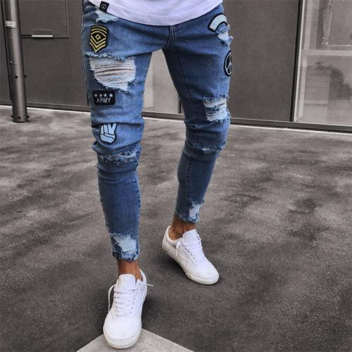 2020 2018 Fashion Men Boy Slim Fit Skinny Jeans Denim Pants .